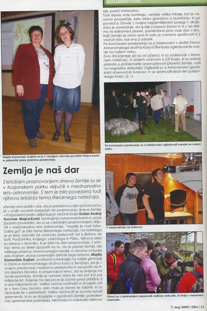 2009_05_07_Zemlja je naš dar Kozjanski park